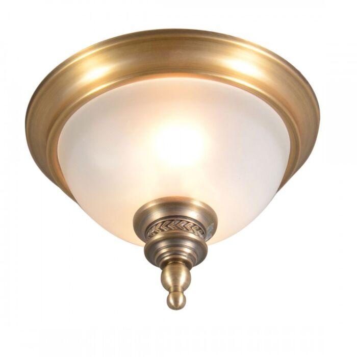 Plafoniera-'Elegance-25'-classico-bronzo---adatta-per-LED-/-interna