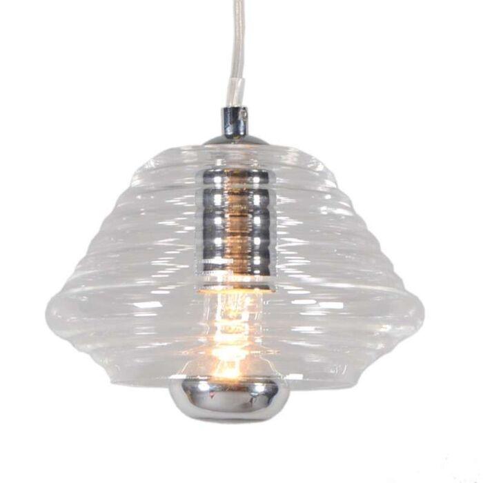 Lampada-a-sospensione-'Treviso-II'-moderna-trasparente/vetro---adatta-per-LED-/-interna