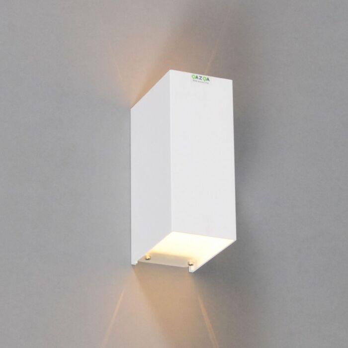 Applique-'Tabb-2'-moderno-blanco/alluminio---adatto-per-LED-/-interno