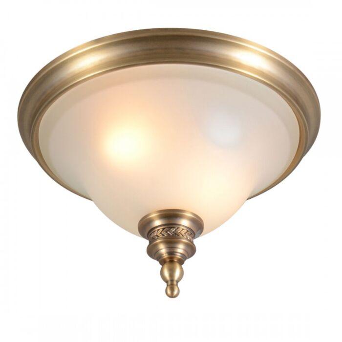 Plafoniera-'Elegance-33'-classico-bronzo/vetro---adatta-per-LED-/-interna