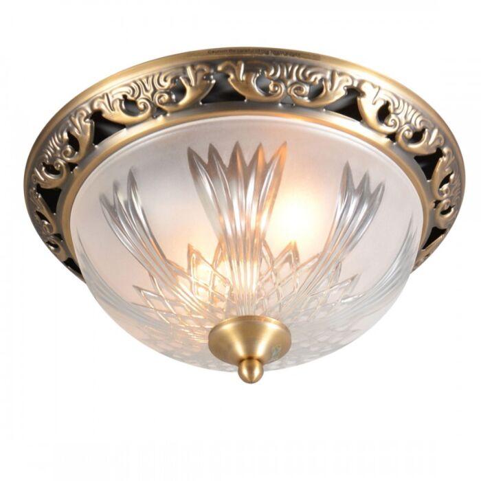 Plafoniera-'Beatrix-33'-classico-bronzo/vetro---adatta-per-LED-/-interna