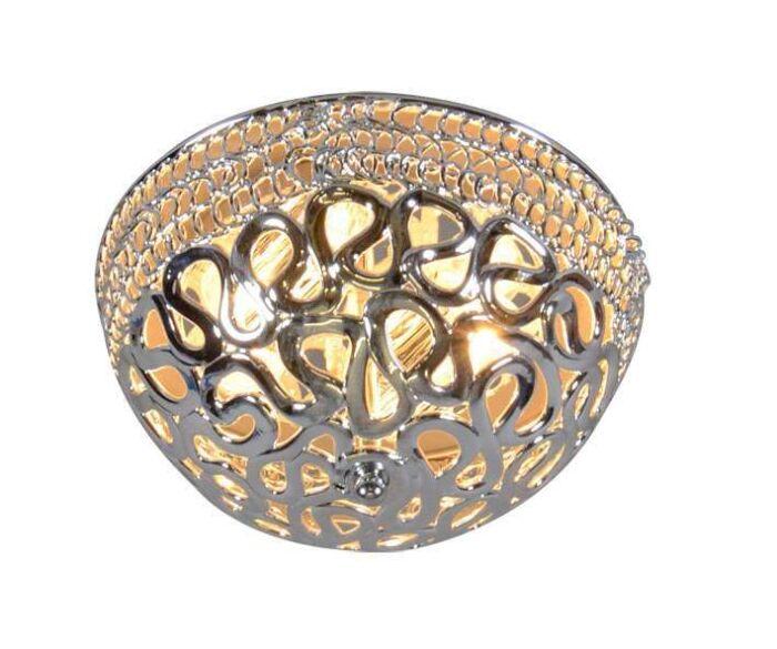 Plafoniera-'Pharaoh-30'-moderna-cromo/plastica---adatta-per-LED-/-interna