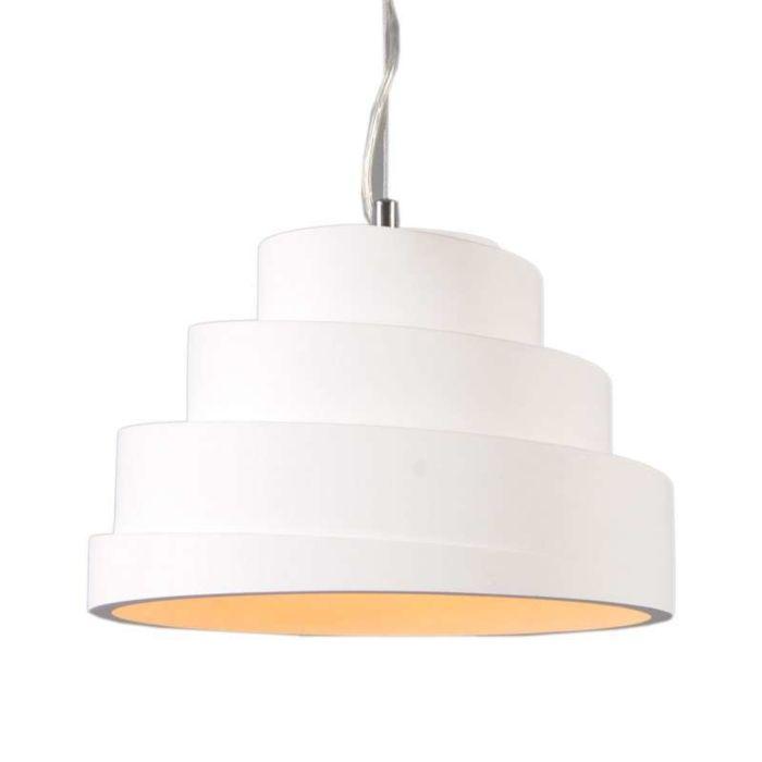 Lampada-a-sospensione-'Gipsy-Arles'-moderna-blanca/intonaco---adatta-per-LED-/-interna