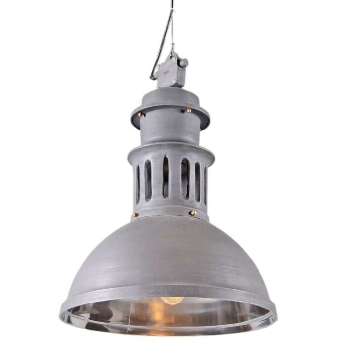 Lampada-a-sospensione-'Supply'-industriale-grigia/metallo---adatta-per-LED-/-interna