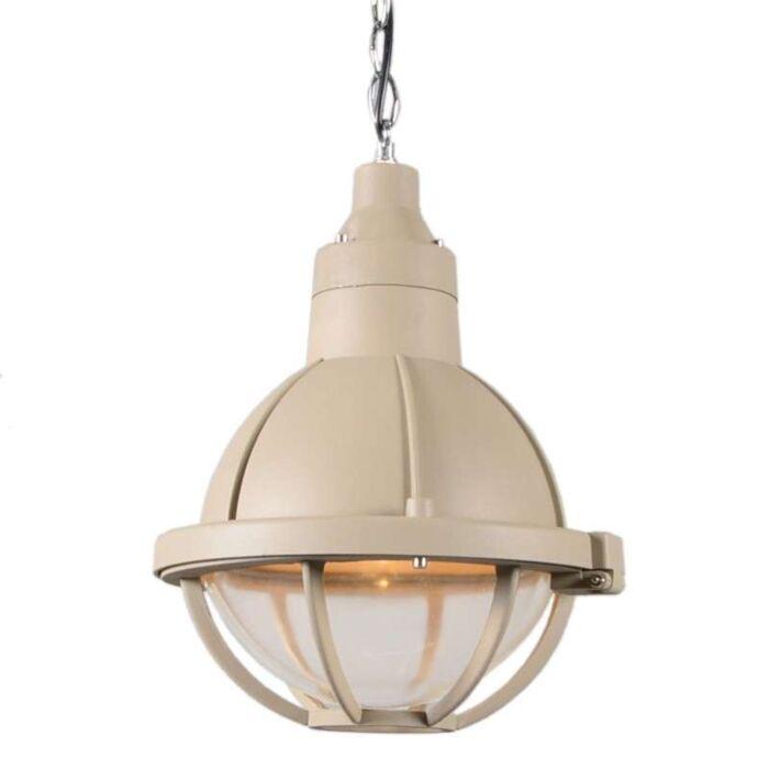 Lampada-a-sospensione-'Stork-III'-retro-beige/alluminio---adatta-per-LED-/-interna
