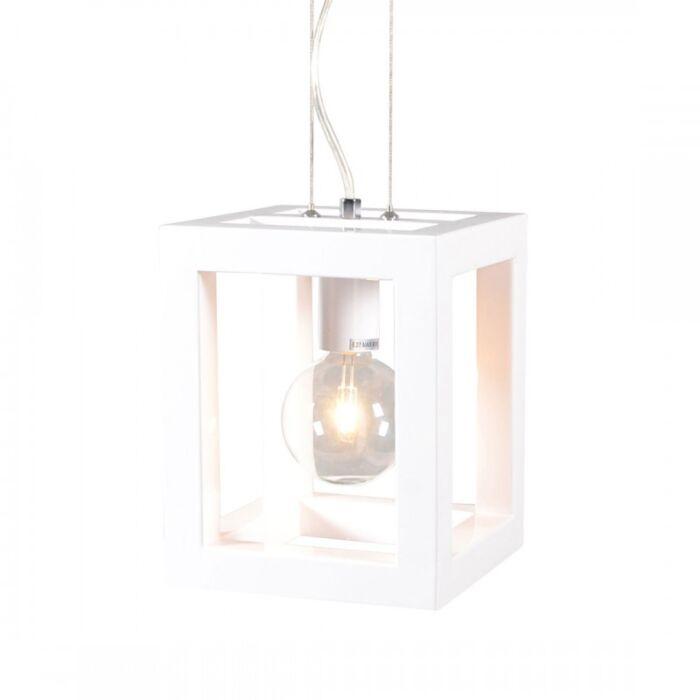 Lampada-a-sospensione-'Cage-1'-moderna-blanca/metallo---adatta-per-LED-/-interna