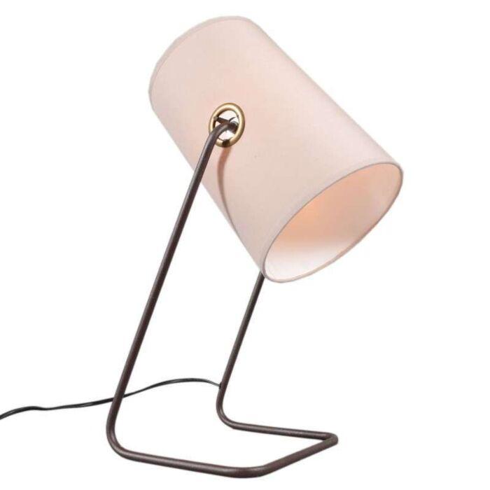 Lampada-da-tavolo-'Benzina'-retro-beige/metallo---adatta-per-LED-/-interna