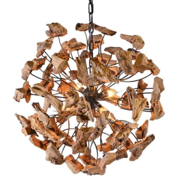 Lampada-a-sospensione-grande-'Raman-65'-moderna-caffè/legno---adatta-per-LED-/-interna