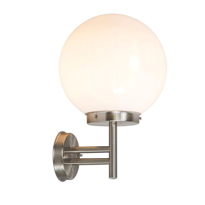 Lampada-da-parete-per-esterno-moderna-in-acciaio-inox-IP44---Sfera