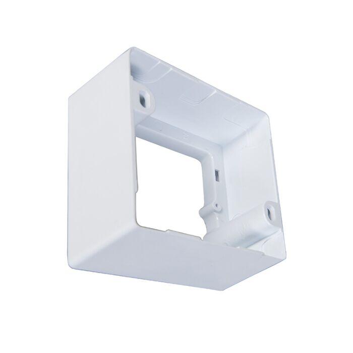 Cornice-interruttore-parete-bianco