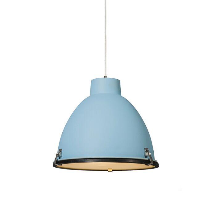 Lampada-a-sospensione-'Anteros-38'-industriale-blu/alluminio---adatta-per-LED-/-interna