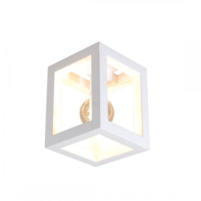 Plafoniera-'Cage-1'-moderna-blanca/metallo---adatta-per-LED-/-interna
