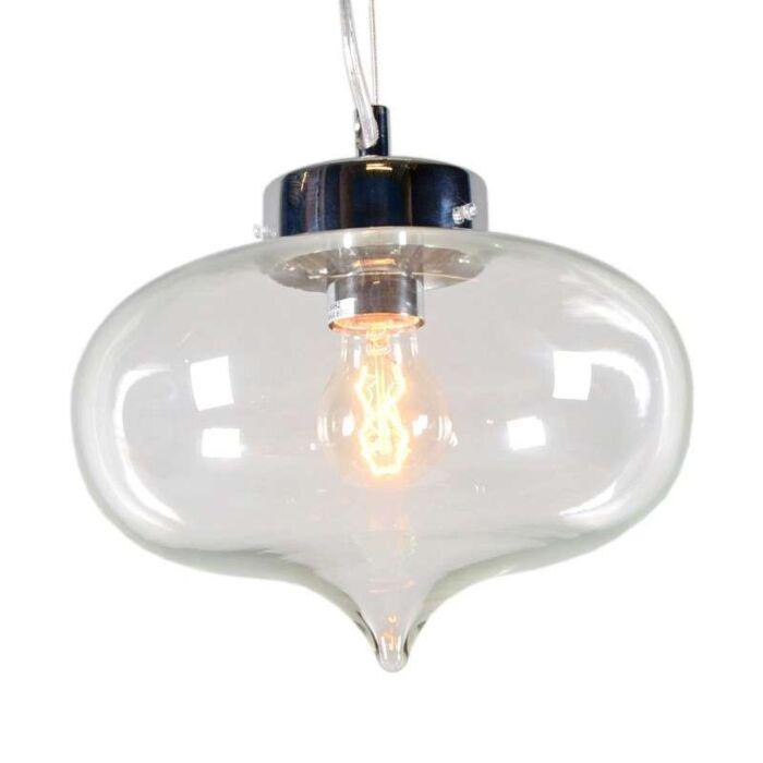 Lampada-a-sospensione-'Bibione'-moderna-trasparente/vetro---adatta-per-LED-/-interna