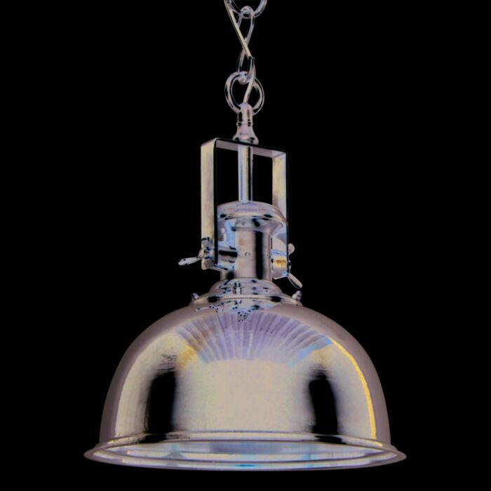 Lampada-a-sospensione-'Zine-L'-industriale-cromo/nickel---adatta-per-LED-/-interna