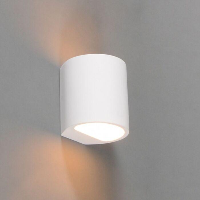 Lampada-da-parete-moderna-rotonda-bianca---Gipsy-Arles