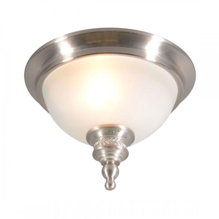 Plafoniera-'Elegance-25'-classico-acciaio---adatta-per-LED-/-interna