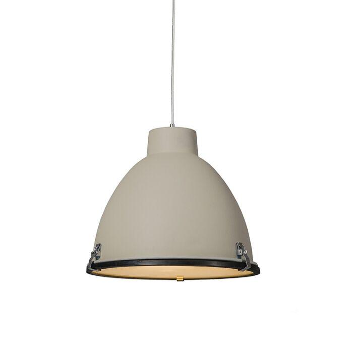 Lampada-a-sospensione-'Anteros-38'-industriale-caffè/alluminio---adatta-per-LED-/-interna