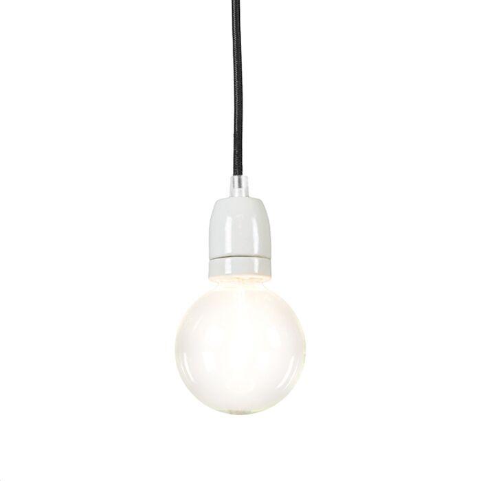 Lampada-a-sospensione-minimalista-'Cavo'-moderna-nera/tessuto---adatta-per-LED-/-interna