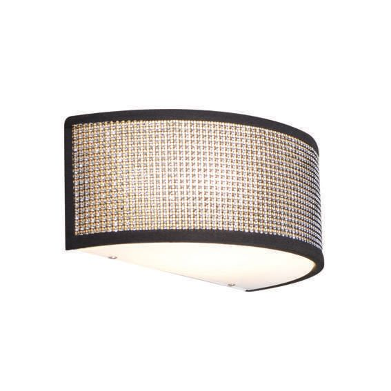 Applique-'Drum-R'-design-grigio/cristallo---adatto-per-LED-/-interno