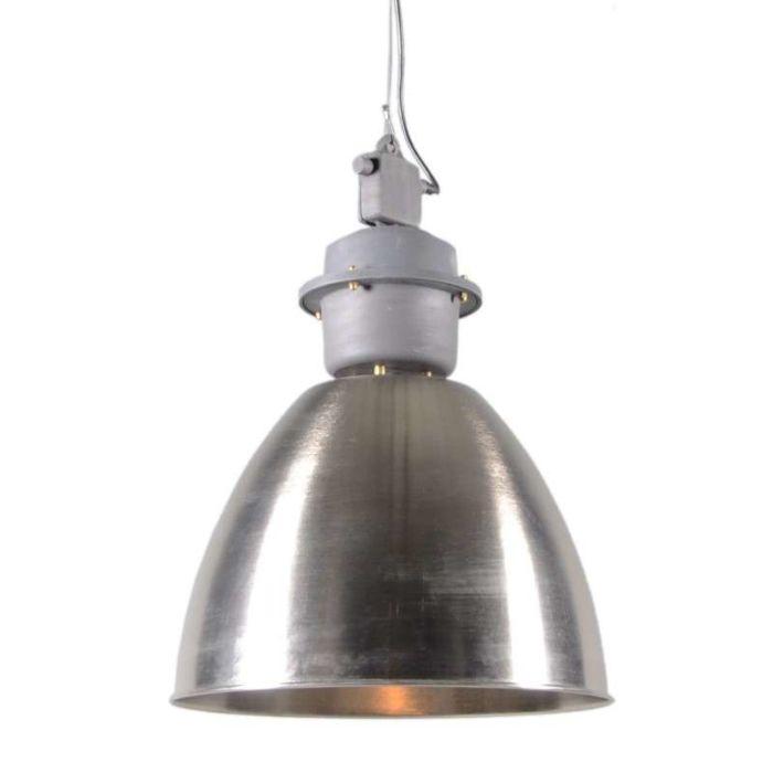 Lampada-a-sospensione-industriale-acciaio/alluminio---adatta-per-LED-/-interna
