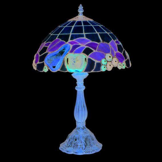 Lampada-da-tavolo-'Mybster-L'-tiffany-marrone-ossido/vetro---adatta-per-LED-/-interna