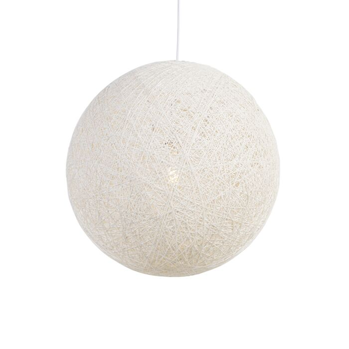 Lampada-a-sospensione-Country-bianca-60-cm---Corda