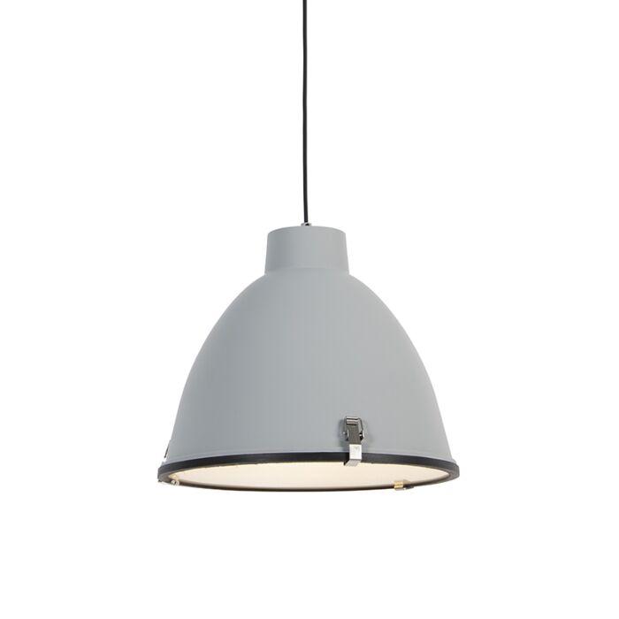 Lampada-a-sospensione-industriale-grigia-38-cm-dimmerabile---Anteros