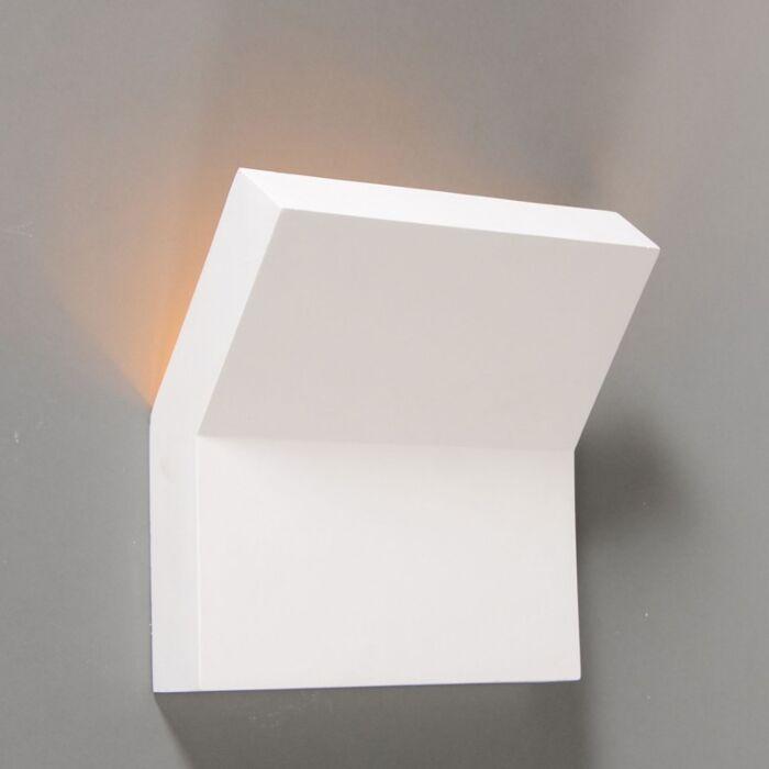 Applique-moderno-bianco-gesso---GIPSY-LYON-II