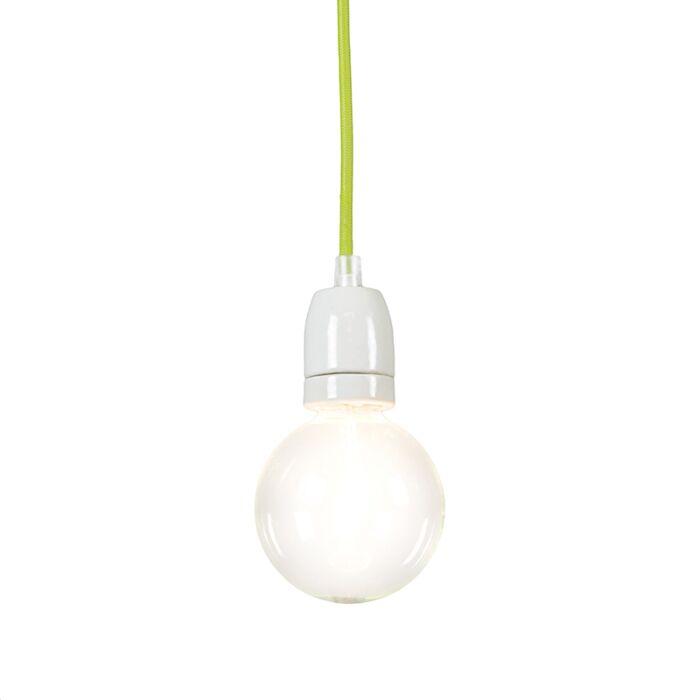 Lampada-a-sospensione-minimalista-'Cavo'-moderna-verde/tessuto---adatta-per-LED-/-interna