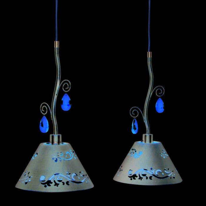 Lampada-a-sospensione-'Verona-2'-rustica-caffè/metallo---adatta-per-LED-/-interna