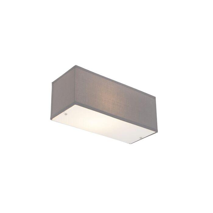 Lampada-da-parete-moderna-rettangolare-grigio---Drum