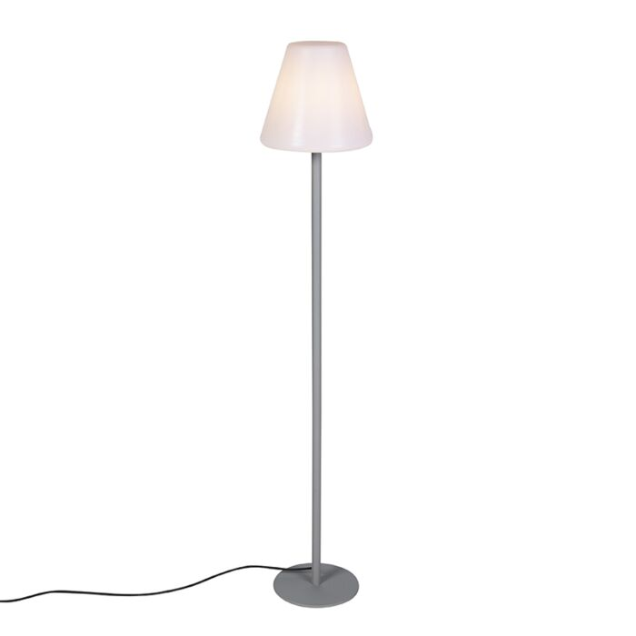 Lampada-da-terra-moderna-per-esterno-grigia-IP65---Virginia