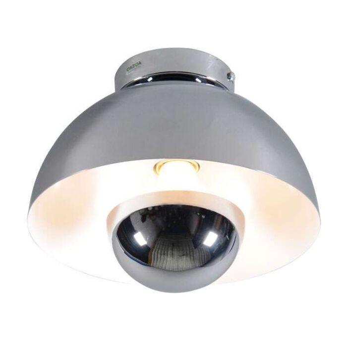 Plafoniera-'Elx-1'-design-cromo---adatta-per-LED-/-interna
