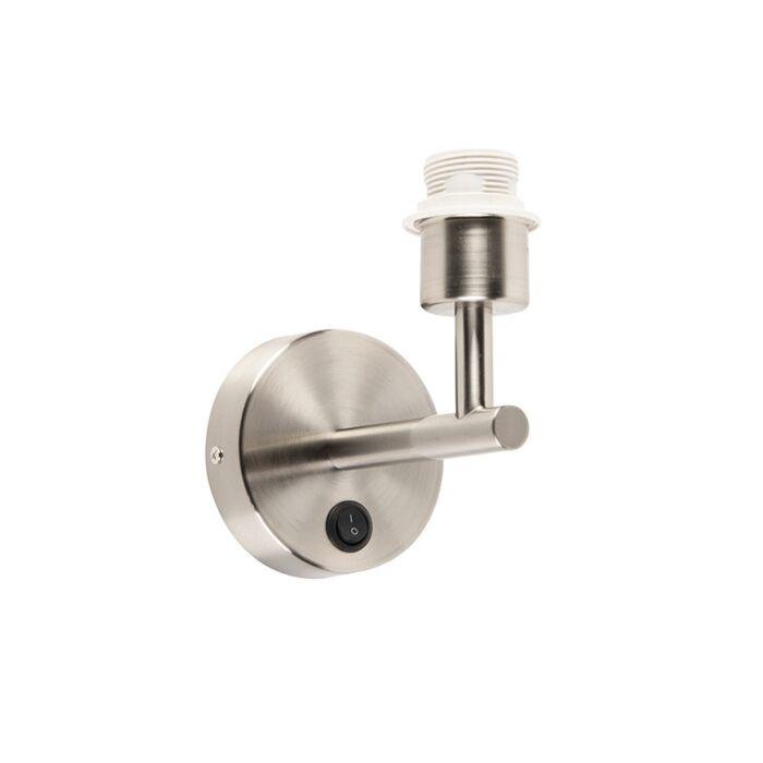 Applique-COMBI-1-acciaio-senza-paralume