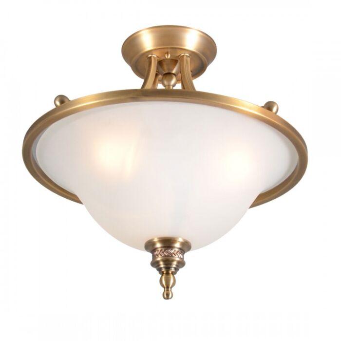 Plafoniera-'Elegance-Delux-I'-classico-bronzo---adatta-per-LED-/-interna