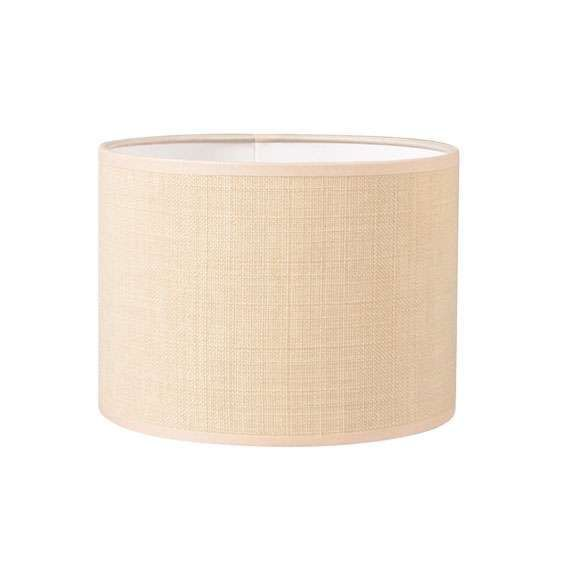 Paralume-'20/20/15'-moderno-beige/tessuto