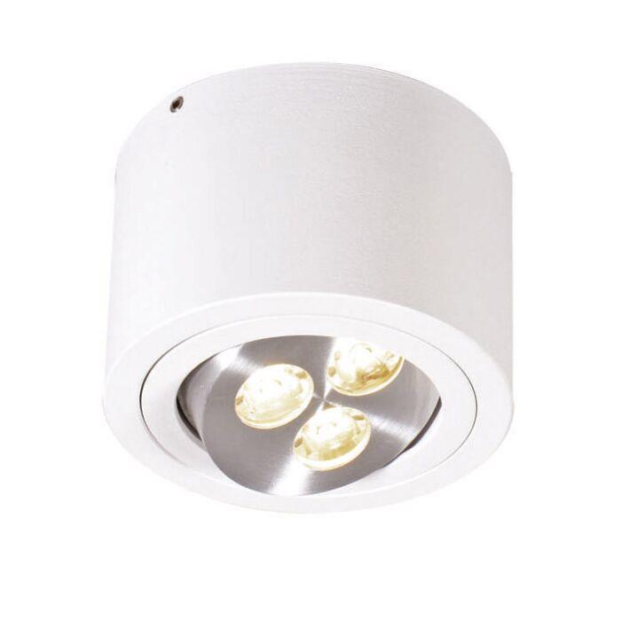 Faretto-'Keoni'-moderno-blanco/alluminio---include-LED-/-interno