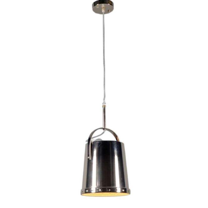 Lampada-a-sospensione-'Benna'-moderna-cromo---adatta-per-LED-/-interna
