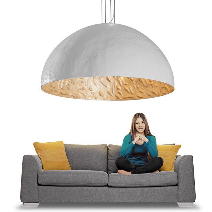 Lampada-a-sospensione-grande-'Magna-160'-moderna-blanca/plastica---adatta-per-LED-/-interna