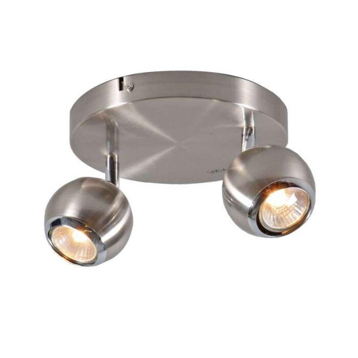 Faretto-'Buell-2'-moderno-acciaio---adatto-per-LED-/-interno