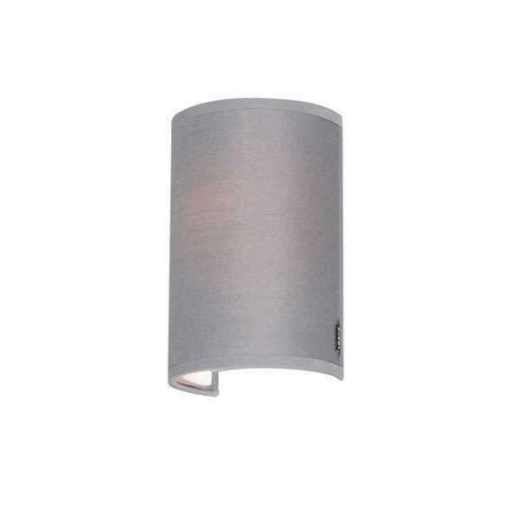 Lampada-da-parete-moderna-grigia---Simple-Drum