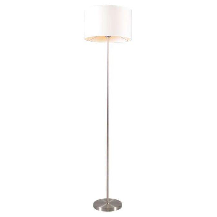 Lampada-da-terra-con-paralume-'Lugar'-moderna-blanca/tessuto---adatta-per-LED-/-interna