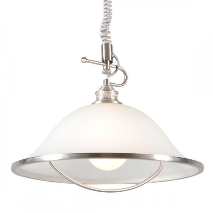 Lampada-a-sospensione-'Elegance-I'-classico-acciaio---adatta-per-LED-/-interna