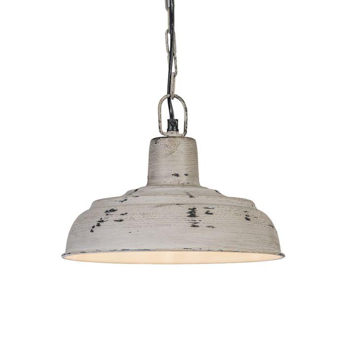 Lampada-a-sospensione-'Barun'-rustica-grigia/metallo---adatta-per-LED-/-interna