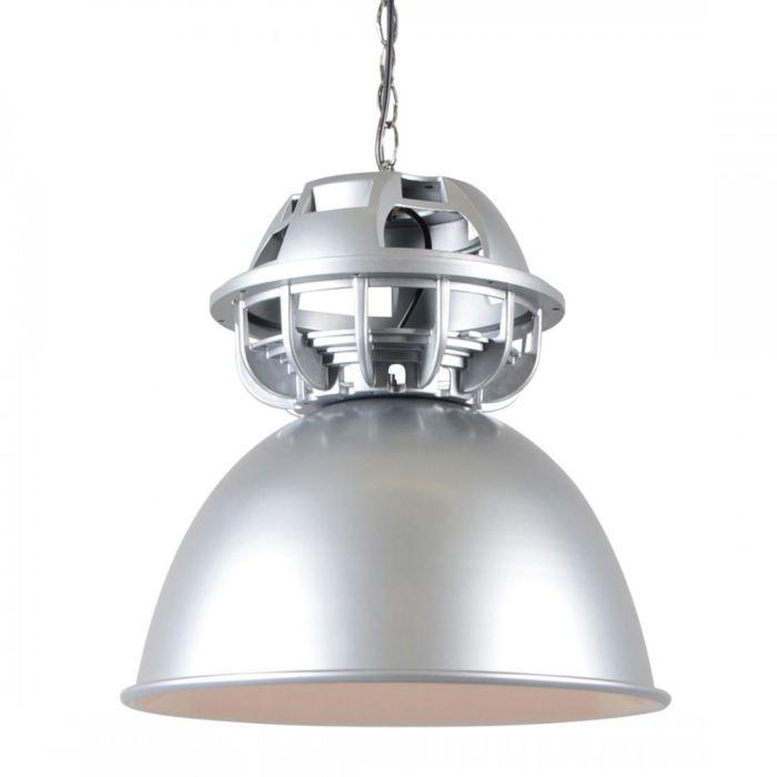 Lampada-a-sospensione-'Sicko-I'-industriale-grigia/alluminio---adatta-per-LED-/-interna