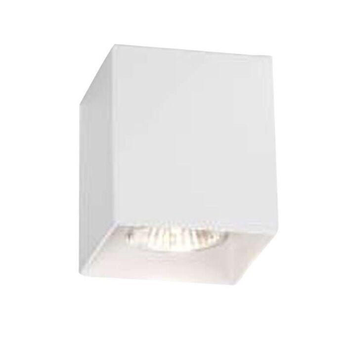 Faretto-'Boxy'-design-blanco/metallo---adatto-per-LED-/-interno