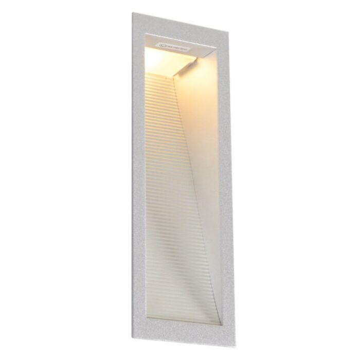 Faretto-da-incasso-da-parete-'Down-Under-M'-moderno-alluminio---adatto-per-LED-/-interno,-bagno