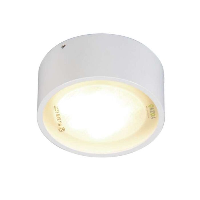 Lampada-da-soffitto/parete-'Dox-1'-moderna-blanca/metallo---adatta-per-LED-/-interna