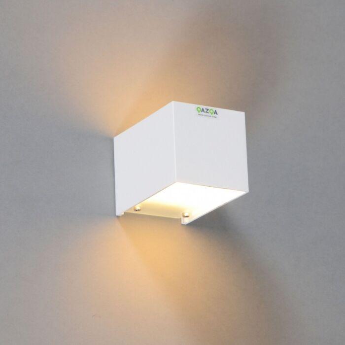 Applique-'Tabb-1'-moderno-blanco/alluminio---adatto-per-LED-/-interno