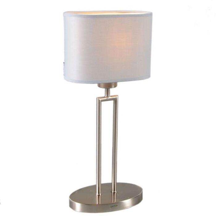 Lampada-da-tavolo-con-paralume-'Zadar'-moderna-acciaio---adatta-per-LED-/-interna